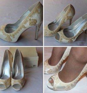 Мегакрасивые новые свадебные туфли 40 р