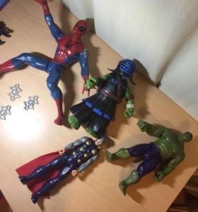 Халк,Тор,Человек паук,Черепашка Ниндзя