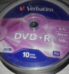 DVD диски (болванки), запечатанные.