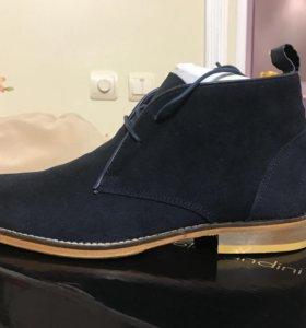 Ботинки мужские новые замшевые