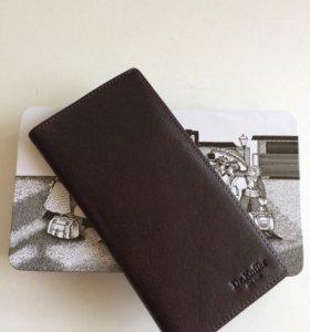 Мужской кожаный кошелёк портмоне