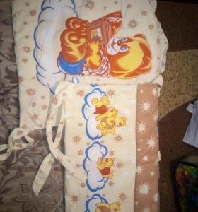 Бортики в кровать с одеялком