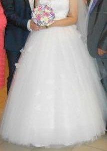 Свадебное платье+туфли+фата+бижутерия