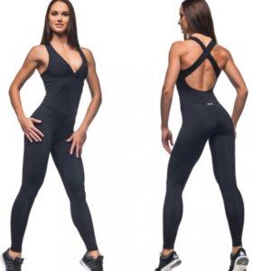 Комбенизон для фитнеса спорт леггинсы elite body