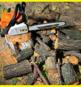 Спилить дерево на даче в Саратове и Энгельсе