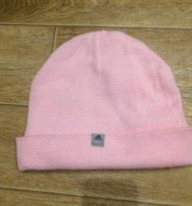 Розовая шапка adidas оригинал