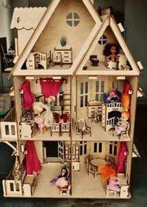 домик для куклы с мебелью