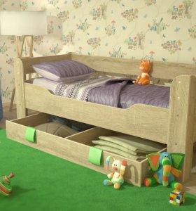 Кровать односпальная с ящиком Мийа - 4