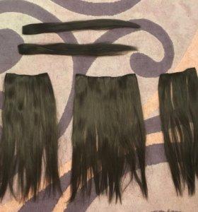 Волосы на заколках 50см