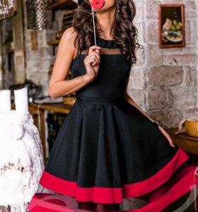 Эффектное пышное платье (миди)