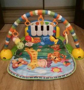 Развивающий музыкальный коврик пианино