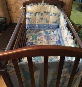 Детская кровать маятник.