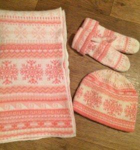 Шапка, шарф, рукавицы