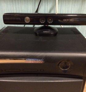 Xbox 360+кинект+2 геймпада+17 игр+гарнитура