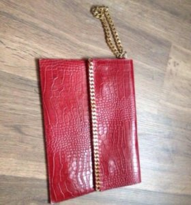 Новый кожаный клатч Zara