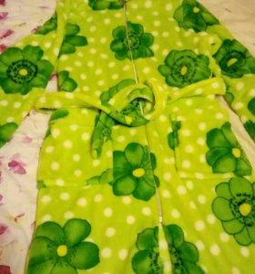 Халат теплый зеленый