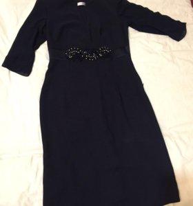 Платье 46 размер. Темно - Синий.