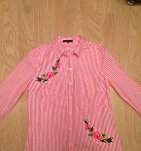 Рубашка с вышивкой новая
