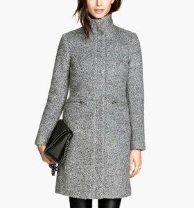 Шерстяное пальто h&m 34