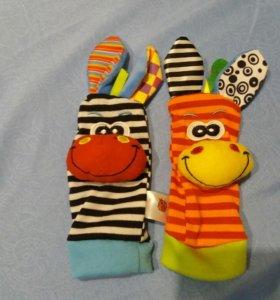 Новые Носочки погремушки