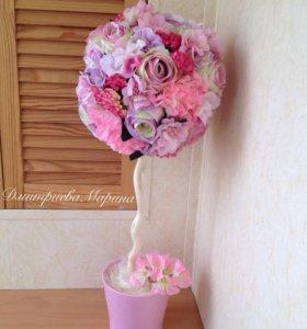 Топиарий Розовый