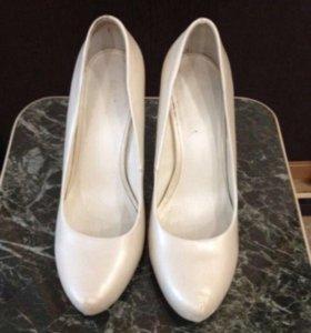 Свадебные туфли. Кожа.