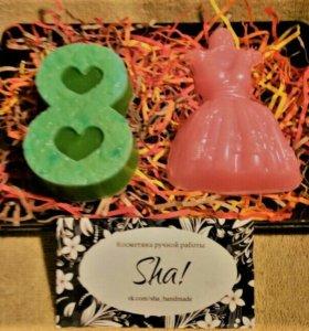 Подарочный набор мыла ручной работы к 8 марта