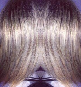 Мелирование,тонирование и окрашивание волос