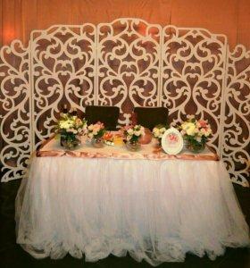 Прокат свадебной ширмы