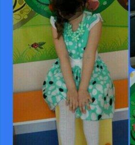 Продам нарядное платье, от 110 до 128 можно носить
