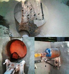 Алмазное бурение, сверление отверстий в бетоне