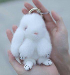 Брелки из натурального меха Кролик