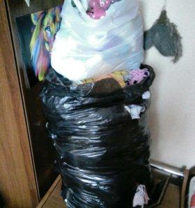 Мешок вещей на девочку от 0 до двух лет