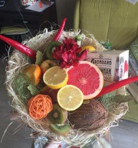 Необычные Букеты из фруктов и овощей