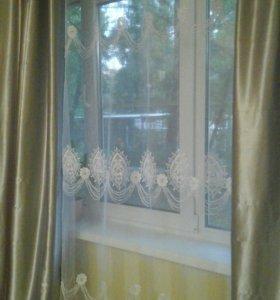 шторы и тюль новые