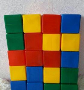 Кубики 20 шт, пирамидка маркерная доска