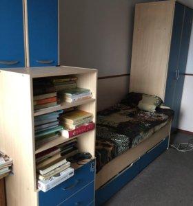 Шкаф , кровать с выдвижными ящиками, тумба