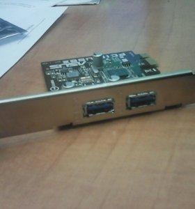 Контроллер Pci-e USB 3.0 2xPort