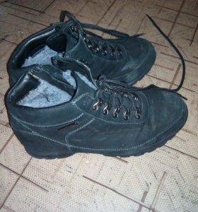 Ботинки , натуральная замша