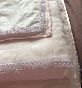 Одеяло и подушка для новорожденной