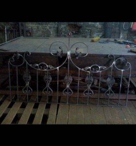 Ограды, лавочки и столики