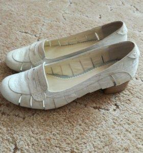 Туфли жен.кожаные