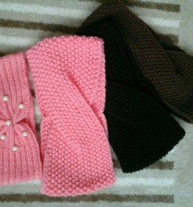 шапка +снуд, повязки на голову
