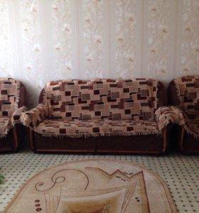 Диван, 2 кресла б/у