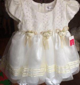 НОВОЕ! 👗Нарядное платье на малышку 10-12 мес