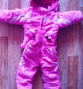 Зимний Комбинезон на девочку 1-2 года