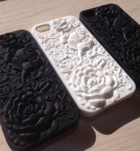 Силиконовые чехлы 3d эффект на iPhone 5/5s/5c