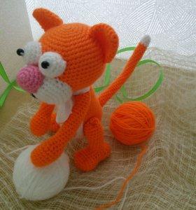 Вязаные игрушки Кот Апельсинчик