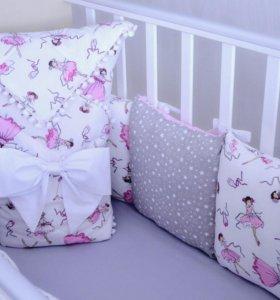 Комплект в кроватку, одеяло на выписку