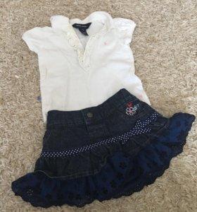 Футболка и юбка для девочки